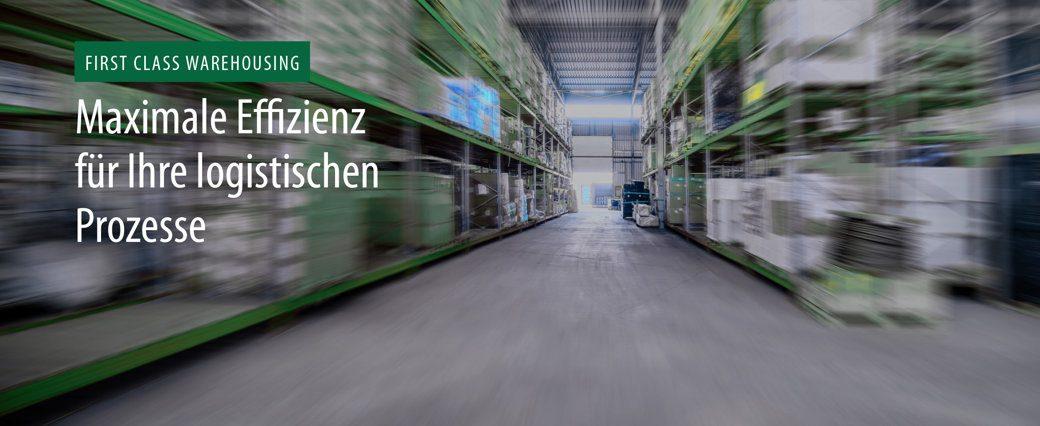Headerbild mit Text: Maximale Effizienz für Ihre logistischen Prozesse